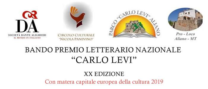 """Bando Concorso Nazionale Storico-Letterario ed Artistico """"CARLO LEVI"""" XX Edizione"""